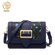 Pmsix designer brand famous in womens'bag Embossed High quality Messenger Bags solid leather convenient Socialite crossbody Bag
