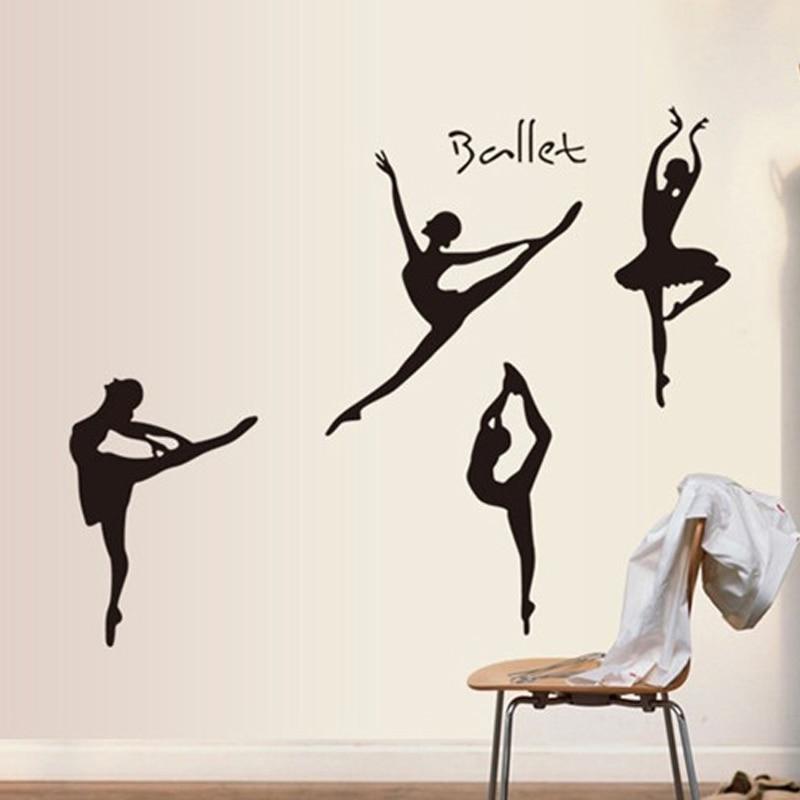 Home & Garden 2019 New Style 60*90cm Ballet Dancer Ballet Dream Diy Wall Stickers Pvc Vinyl Decor For Living Room Bedroom Ballet Class Tv/sofa Background