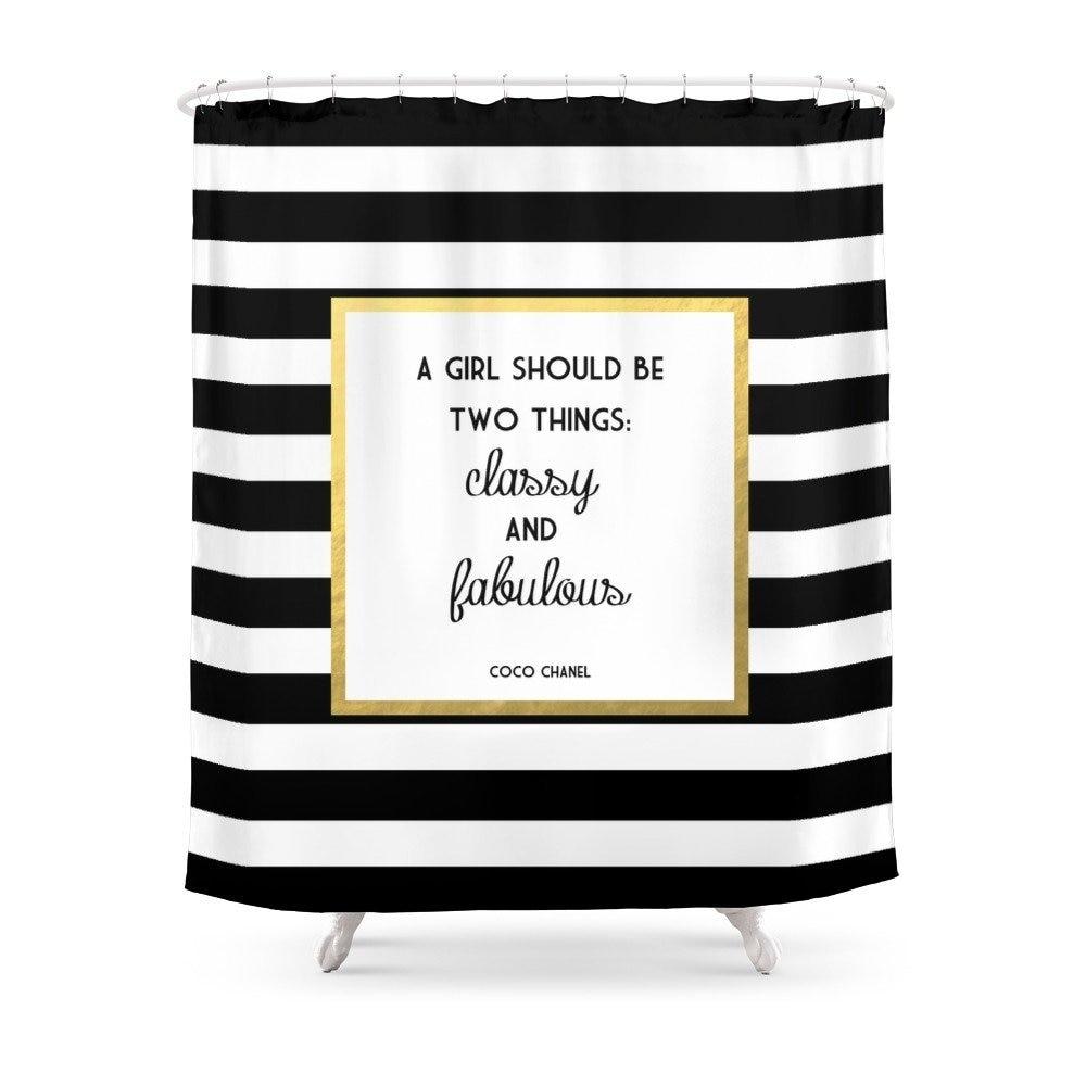 Coco Or Classy Fabuleux Imprimer Rideau De Douche Etanche Salle