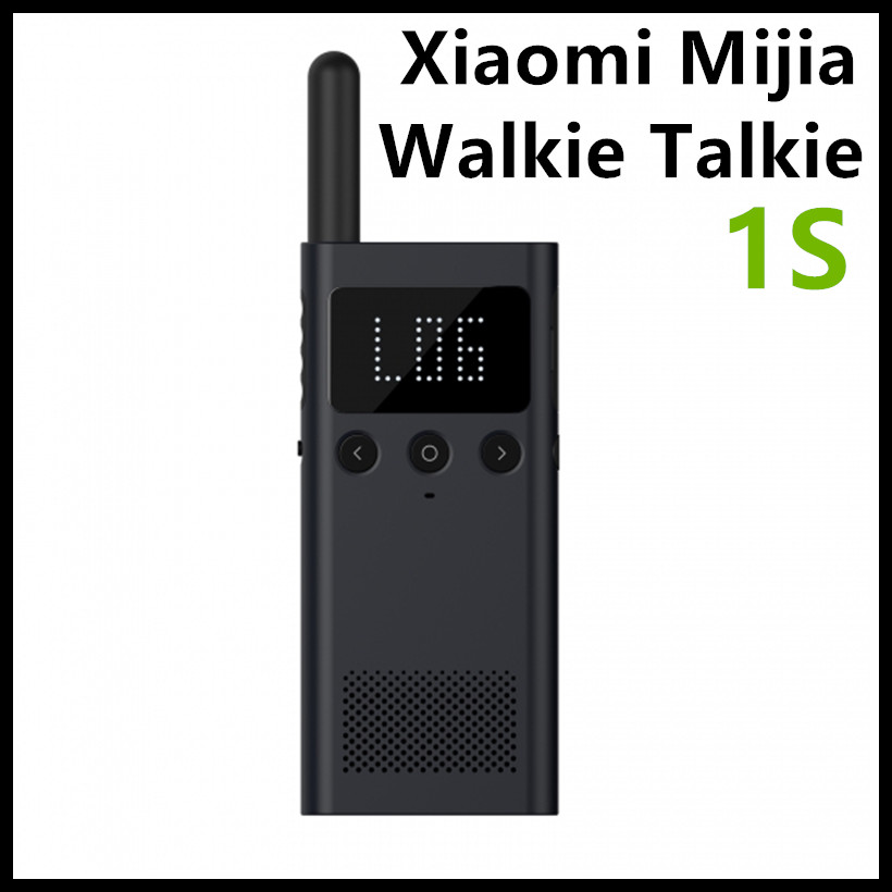 New Xiaomi Mijia Walkie Talkie Interphone 1S FM Radio 5 Dayds Standby Phone APP Location Share Fast Team Talk For Smart Control baofeng uvb2 plus vhf uhf dual band programmable walkie talkie two way radio fm transceiver handheld dual standby interphone with flashlight