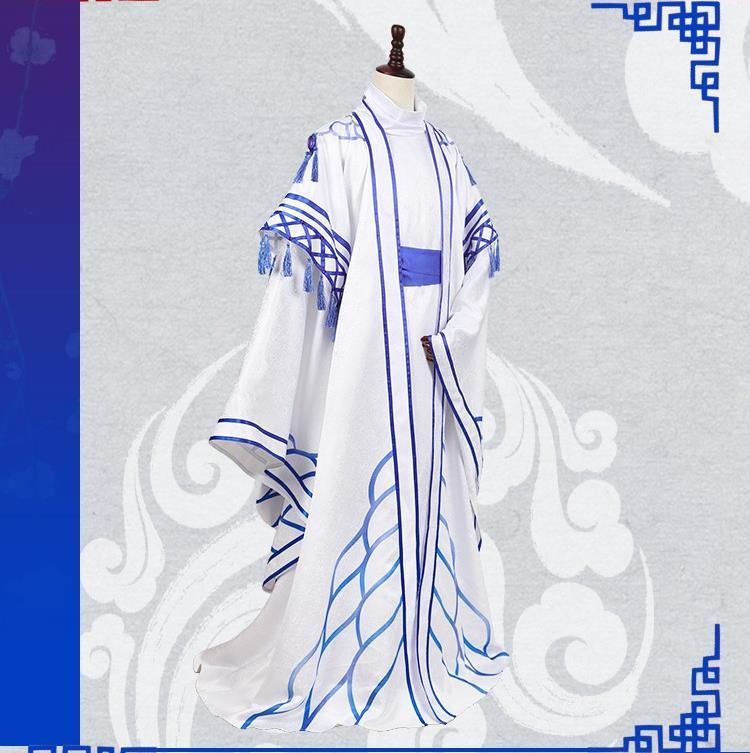 Image 3 - أنيمي! زي تنكري رائع للزي كيمونو كهنوت عتيق مزود بتضحية زرقاء حمراء DuanMuXi من Spiritpact الشحن مجانيأزياء أنمي   -