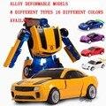 9 cm Bebé juguetes 1:32 Aleación modelo funde vehículos de juguete boy Transformación robot deformación juguetes de carreras de coches de Cumpleaños Regalos