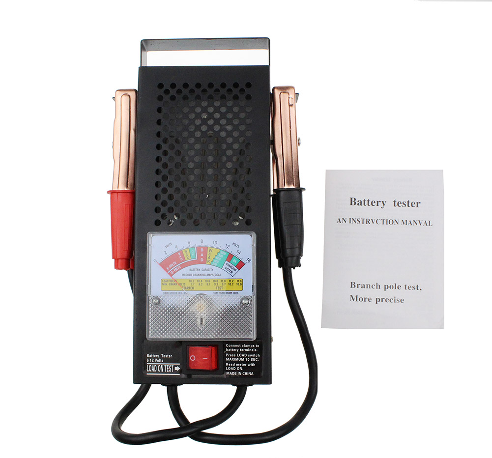 handheld 6v12v automotive car battery tester charger. Black Bedroom Furniture Sets. Home Design Ideas