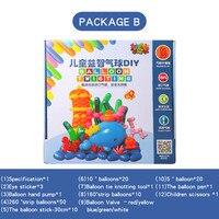 Package B BALLOON TWISTING DIY 1Set/box free shipping