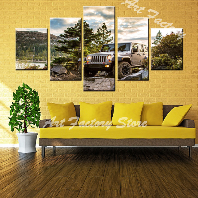 cross country vehicle 5 panel canvas Paintings Print On Canvas ...