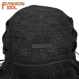Image 5 - Moda IDOL krótkie faliste syntetyczne peruki do włosów Ombre 10 Cal Bob peruki dla czarnych kobiet żaroodporne peruki syntetyczne darmowa wysyłka