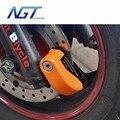 Nova 10mm Roda de Segurança Da Motocicleta Da Bicicleta do Freio de Disco Trava de Segurança Bloqueio de Alarme com Bateria E chave