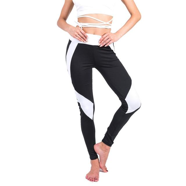 printing Straight bar Blue Patchwork Quick drying Ventilation pants workout leggings women shein joggers women fitness legging