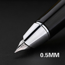 Металлическая ручка с чернилами Hero 101 #, 0,5 мм/1,0 мм, гладкая Студенческая ручка для письма, изысканная офисная Подарочная коробка, Новое поступление