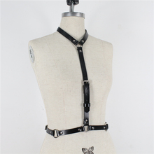 Women Neck Collar Leather Harness Belts Female Waist Bondage Buckle Adjustable BDSM Punk Trendy Crop Top Dress Belt