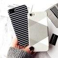Para iPhone 7 7 Plus negro blanco raya de la cebra pintado duro protege la cubierta de la caja del coque de la capa para iPhone 5S 6 s 6 6 s más 6 s más