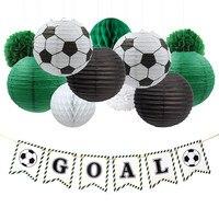 Nicro 17 шт./компл. футбольная цель праздничное украшение для дня рождения футбол DIY Декор бумажный фонарь соты цветок шар помпон # Set44