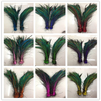Wholesale! 200 pcs peacock feather sword 12-16 inches/30-40 cm left and right Symmetric