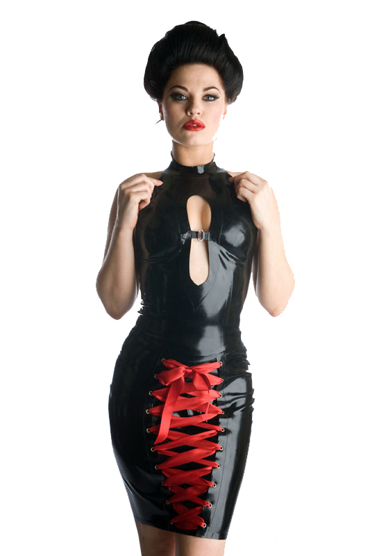 Borong Womens Black Look Wet Vinyl PVC Clubwear Dancer Dress Exotic Clubwear