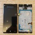 For HTC windows phone 8X C620e  LCD Display Touch Screen Digitizer Assembly with frame , Free Shipping