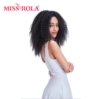Miss Rola 14inch Curly Hair Extension Synthetic Bundle 1pc Kanekalon Fiber Hair Weaving For Women Hair