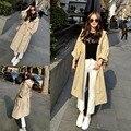 Хорошее качество леди Тренч Осень-Весна Новая Мода Вскользь женщин Пальто Шанца длинные Пиджаки свободная одежда для леди