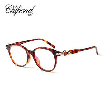 Restoring ancient ways round box spectacle frame female full frame plate optical frame can match myopia finished products cp258