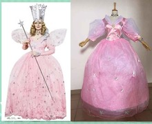 free shipping custom made high quality Glinda Fairy Godmother Cosplay Costumes for Halloween