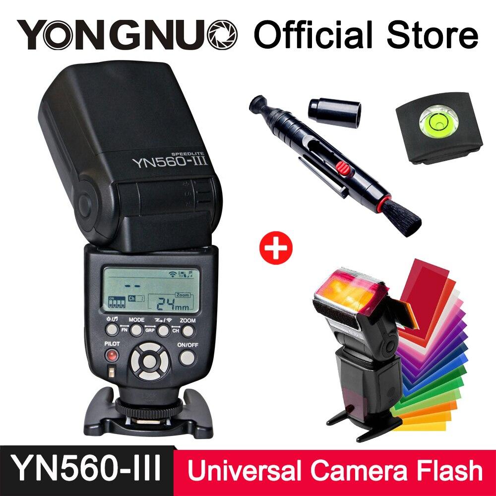 лучшая цена YongNuo YN560-III Speedlite 2.4G Wireless Trigger GN58 Slave Flash Light for Canon Nikon Pentax Olympus Panasonic Camera Flash