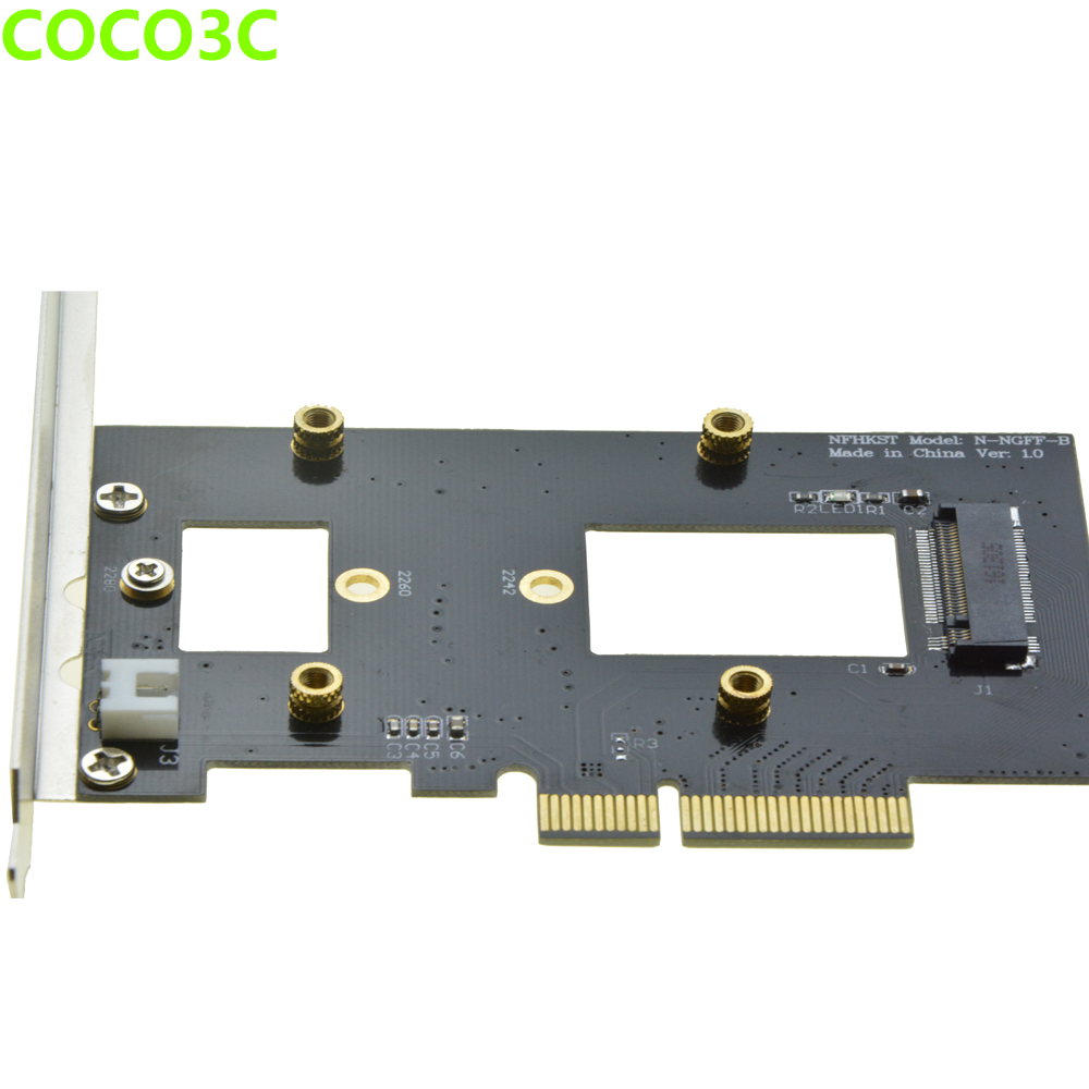 PCI-e 4x naar M-toets NGFF SSD Adapter voor SAMSUNG 950 PRO XP941 - Computer componenten - Foto 4