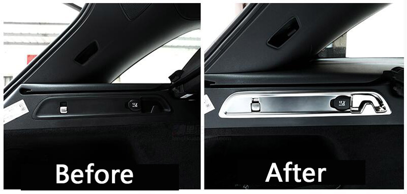 For Mercedes Benz GLC Class X253 200 260 300 2015-2017 ABS Chrome Car Rear Trunk Hook Decorative Cover Trim 3D Stickers 2pcs