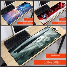 Yuzuoan Star Wars Simple Design Speed Game Large Mouse Pads Computer Gaming Overlock Pad Gamer Play Mats Version Mousepad