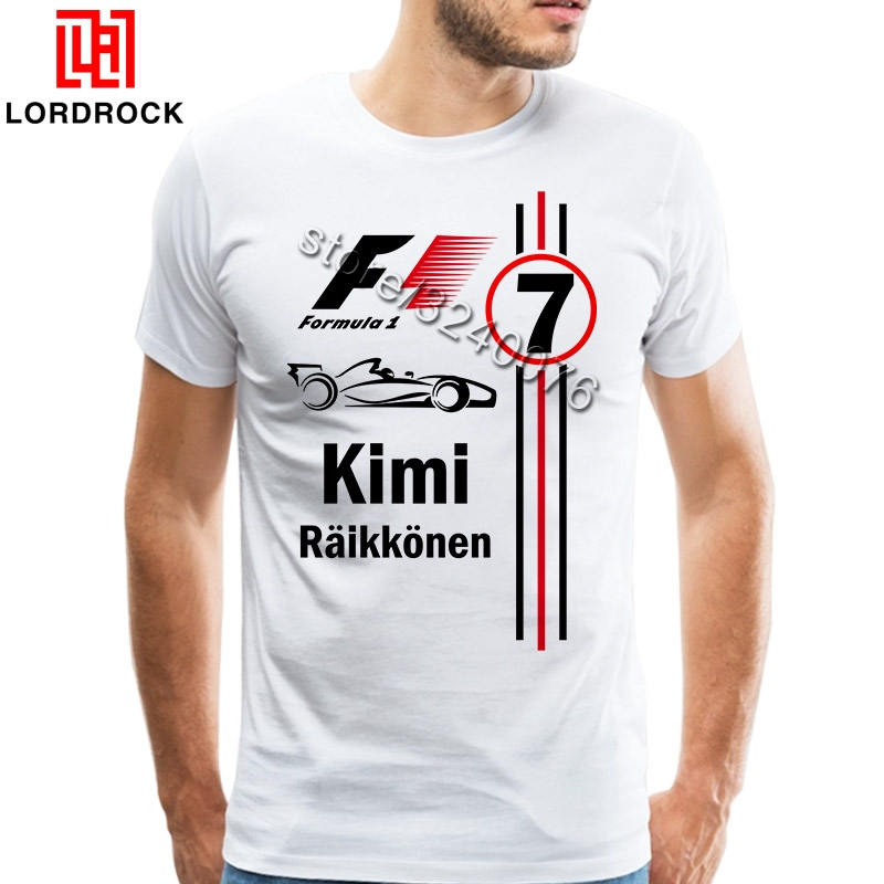 Cool Kimi Raikkonen   T     Shirts   Fashion Men   T  -  Shirt   O Neck Mens tshirt Free Shipping Man Tops Clothing
