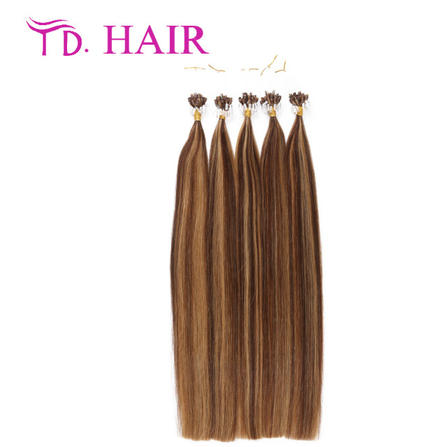 427 Double Drawn Micro Ring Loop Hair Extensions 1gstrand 100