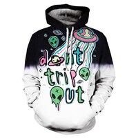 3D Print do'nt trip out Hip Hop Funny Autumn Streetwear Hoodies men off white streetwear