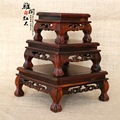 Rosewood Tiger foot square stamp stone porcelain pedestal mahogany base mixed batch of factory outlets