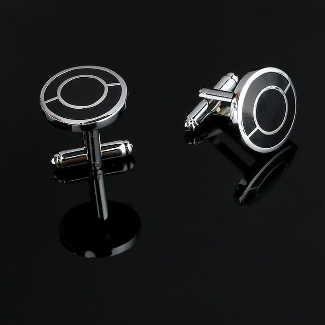 Stainless Steel Silver Classical Grid Vintage Cufflinks