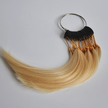 30pcs Dye Bleach Perm 100% Remy Human Hair Color Rings Color Chart For Hair Extension
