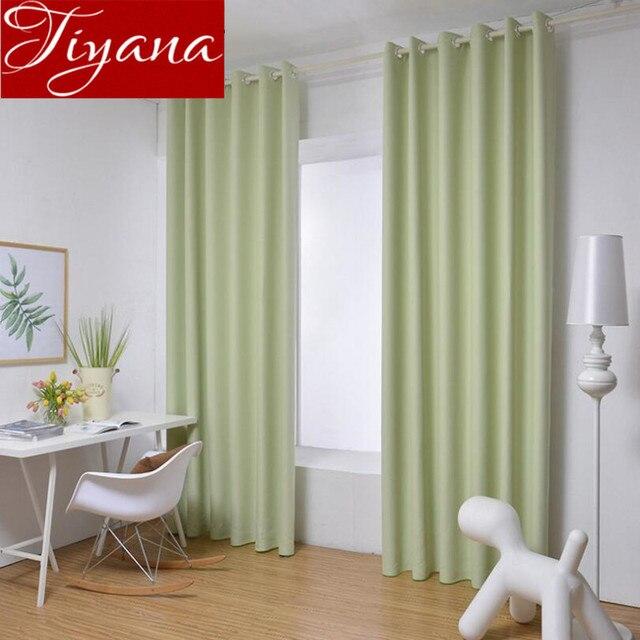 Vert Rideaux Pur Solide Rideaux Fenêtre Moderne Salon Rose Curtians ...