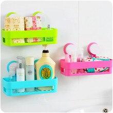 KIMIANDY estantes de plástico baño ventosa baño cocina Esquina de  almacenamiento de Rack organizador estante soporte 5e6bce429048