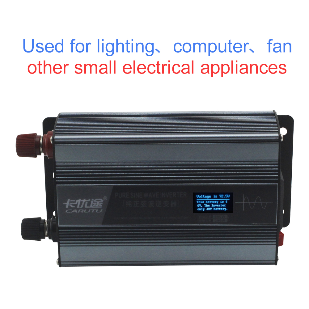 Most ideal full sustain 300W power pure sine wave inverter with ideal fault prompts display 12v