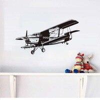 Оптовая продажа военной авиации самолет DIY Виниловые наклейки стены для мальчиков Спальня Air Force наклейка для ребенка Детская гостиная
