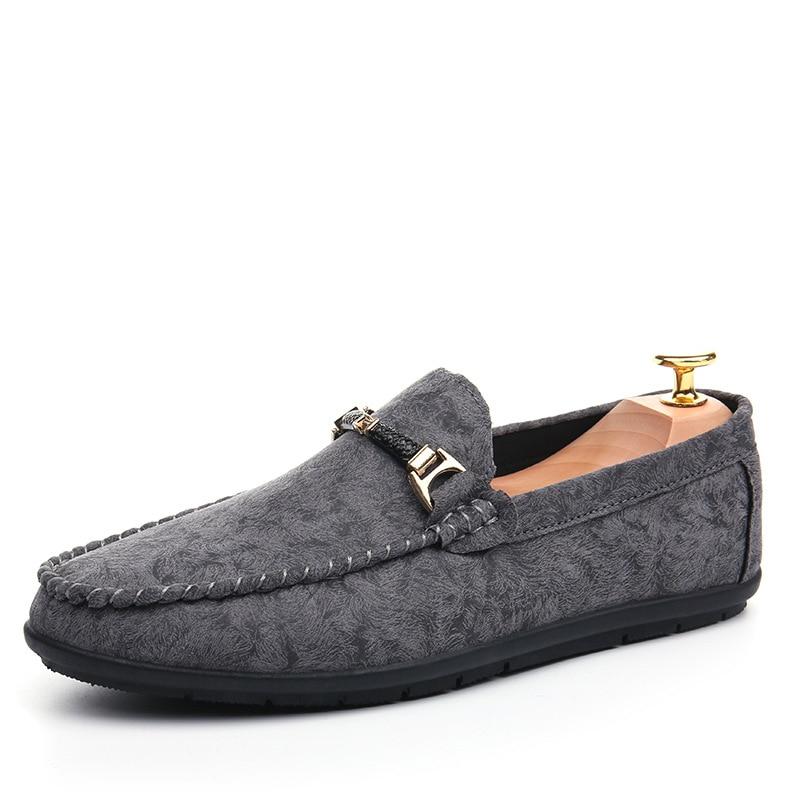 Noir Homme Qualité Appartements vert D'été Véritable gris Conduite Cuir De Pour Yd ever Haute En Mocassins Hommes Chaussures Causalité qaW4C