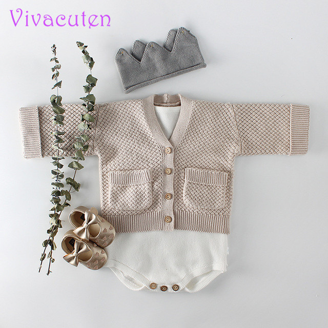 Autumn Baby Girl Cardigan Fashion coat  Cotton Long Sleeve Knitting Sweater Coat Children Clothes Baby Outerwear