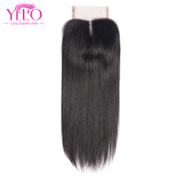 Yelo Human Hair Middle Part 130 Density Swiss Lace Non Remy Hair Natural Color Bleached Knots