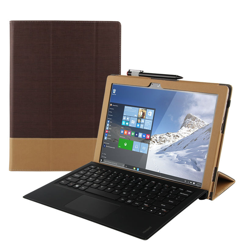 Case For Lenovo Ideapad Miix 700 Smart cover Faux Leather Protective Tablet For MIIX4 12 inch PU Protector Sleeve miix700 covers case cowhide for lenovo ideapad miix 700 genuine protective smart cover leather tablet for miix4 pro miix 710 protector 12cover