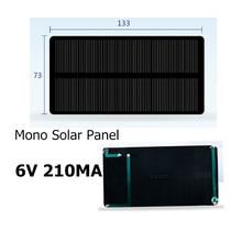 Mini 6V 210MA 1 25W Monocrystalline Silicon Solar Panel  Solar Epoxy