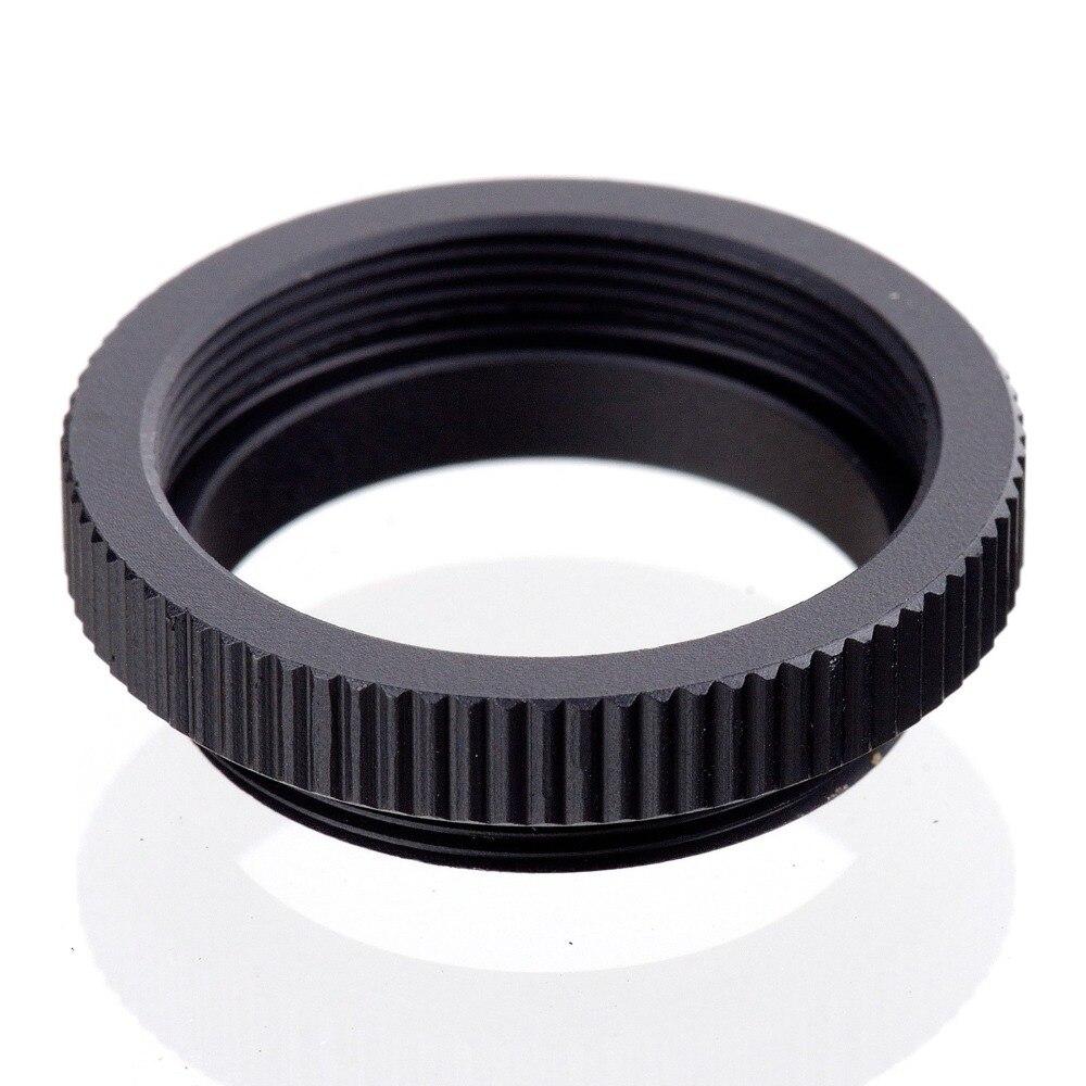 100 pièces Macro C anneau de montage adaptateur pour 25mm 35mm 50mm CCTV film lentille M4/3 NEX caméra noir livraison gratuite