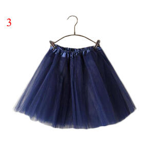 Image 5 - 15Inch Length Classic Womens Tulle Skirts Elastic Tutu Skirts Solid Color High Waist Sweet Toddlers Ballet Skirt Blue Pink Rose
