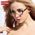 NOSSA Azul Marrom Ultra Leve Quadro Óculos Elegantes das Mulheres Óculos Frames Limpar Lens Moda Óculos Óculos de Armação de óculos de Miopia
