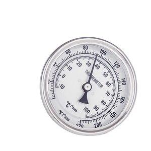 "Image 5 - NEW Weldless Bi metal Thermometer Kit, 3""Face & 2""Probe, 1/2""MNPT, 0~220F degree Homebrew beer Kettle winemaking Homebrew Mash"