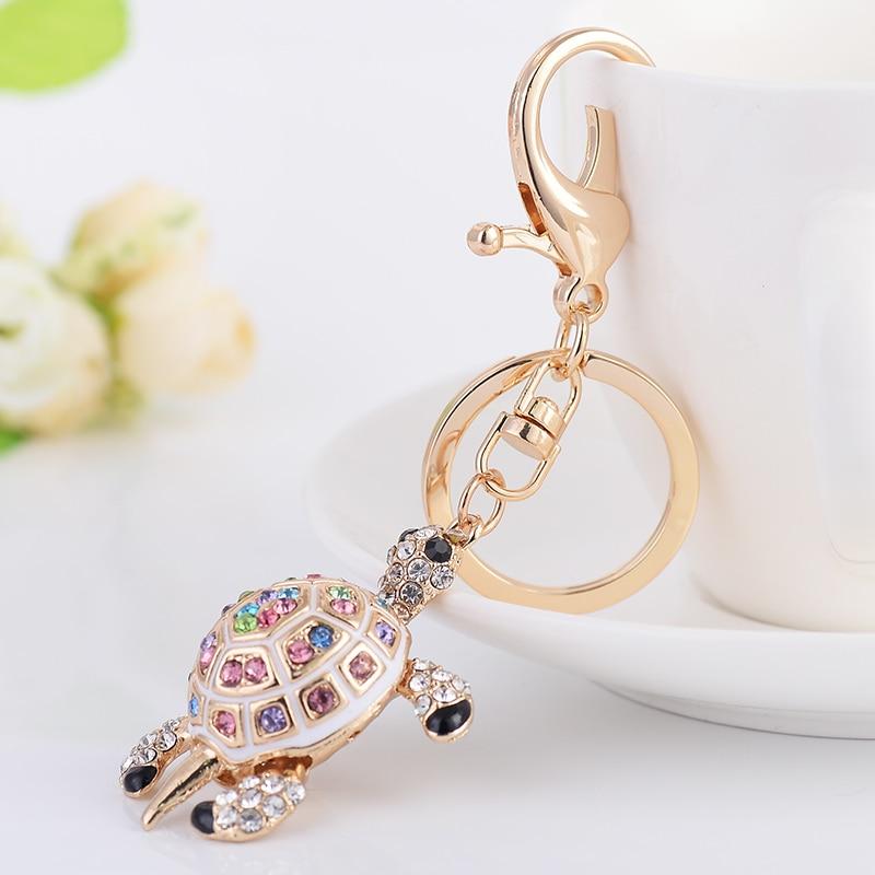 Fashion Turtle Key Chain Ring Pendant Zinc Alloy Keychain Keyring For Women Bag Key Holder Accessory CH3510