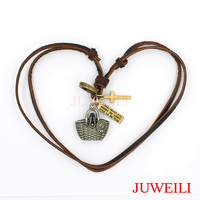 JUWEILI Jewelry Retail 1x Basket Bag Purse Wallet Cup Copper Metal Adjustable Leather Necklace Pendant Charm
