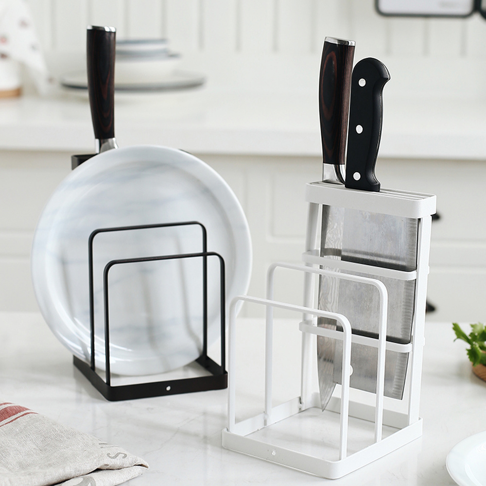 1pc Kitchen knife holder cutting board rack multi-function household rack tool cutting board tray storage rack wx8151858
