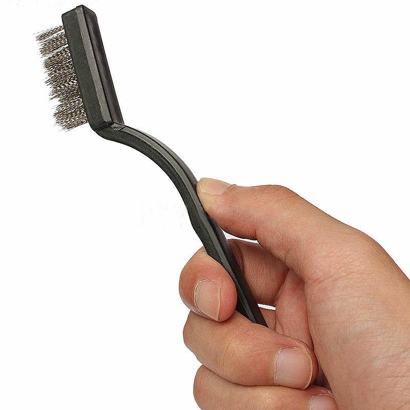 1pcs 18cm Stainless Steel Wire Brush Tooth Brushes Rust Scrub Remove Cleaning Tools Black Brass Wire